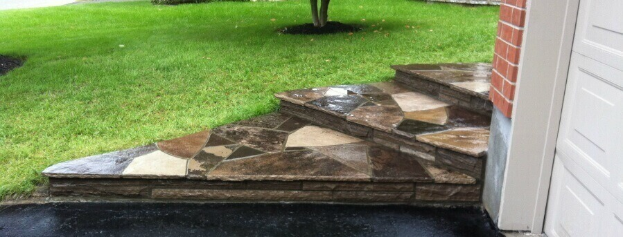 flagstone steps and risers