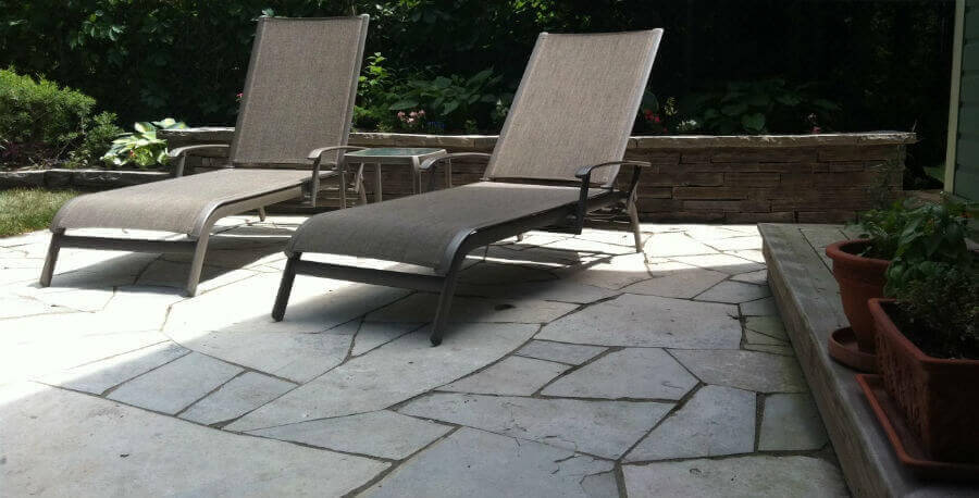Ottawa Flagstone Patio And Dry Stone Wall