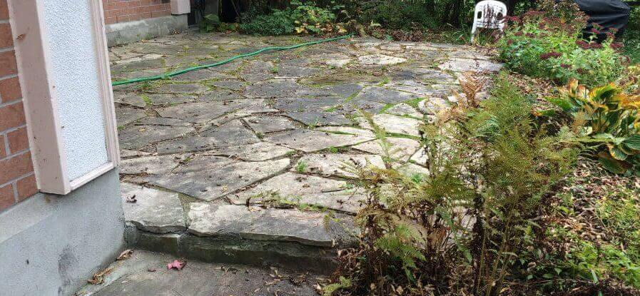 Old FLagstone Patio - Before Work Starts 2