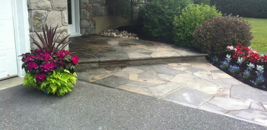 Wiarton Flagstone Entrance