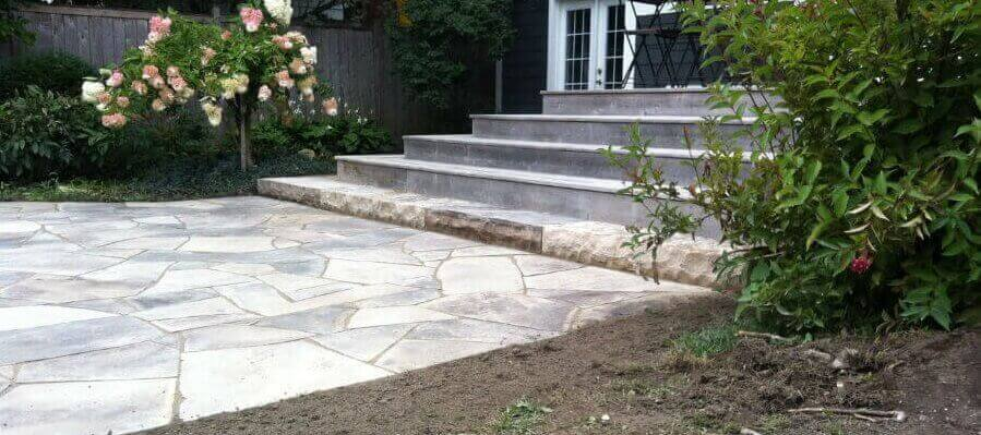 Dry Laid Patio And Natural Stone Steps