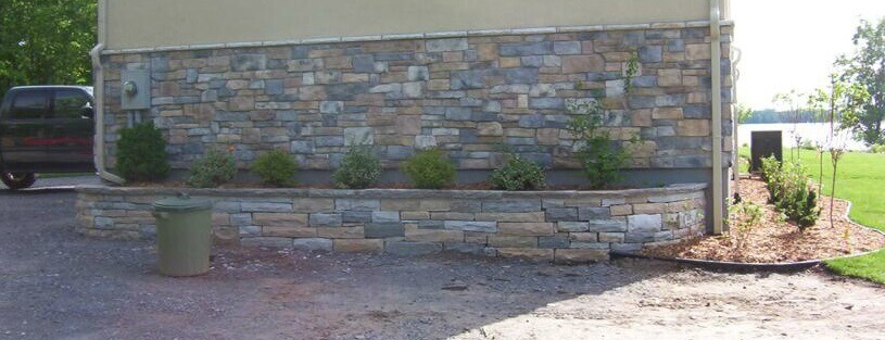 Natural Sandstone Flower Bed Wall