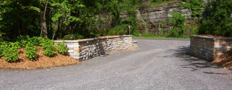 Natural Sandstone retaining walls