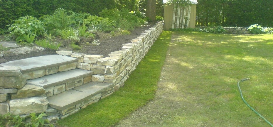 rebuilt retaining wall Manor Park