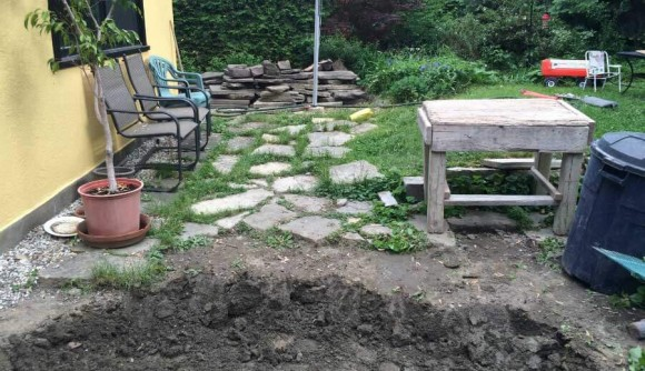 Old Stone Patio - Before 4