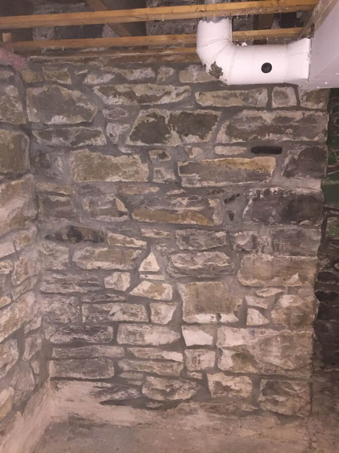 Stone Foundation Repaired